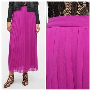 Sparkle & Fade Pleated Chiffon Purple Maxi Skirt